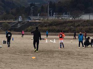 Adii iidA F.C.ジュニアユース体験練習会 @川路多目的グランドA (2020年11月15日)