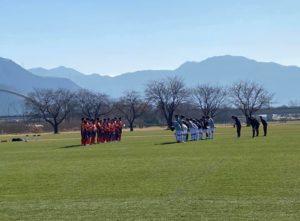 練習試合 U-14 vs AC長野パルセイロ @千曲川リバーフロント (2020年12月6日)